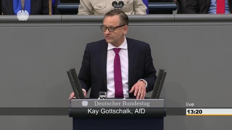 -SPD steht für Sozis plündern dich- ► AfD - Kay Gottschalk im Bundestag