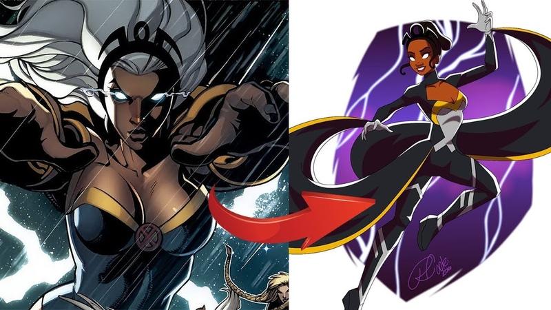 Принцессы Диснея в стиле героев Марвел Princess Disney in the style of the heroes of Marvel
