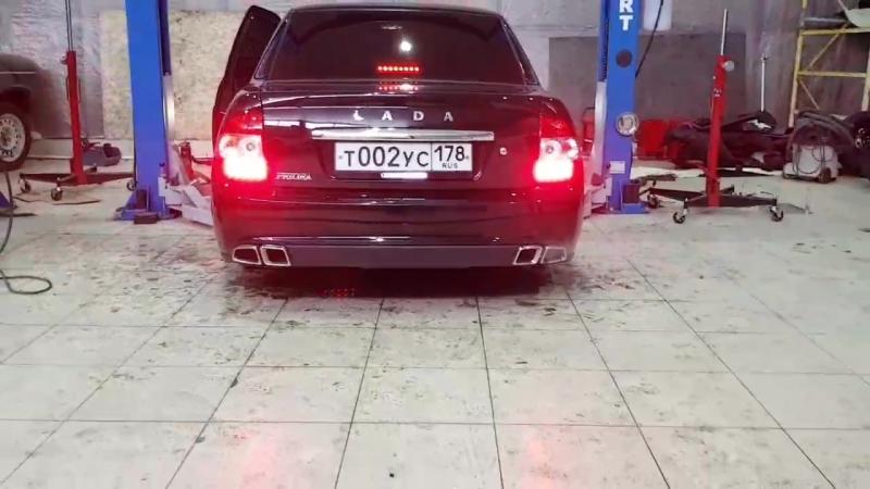 Холодный пуск Выхлоп AMG от VIP Style Пятигорск