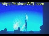 Акробатическое шоу - танцы теней в Санья, остров Хайнань, Китай -экскурсия на видео