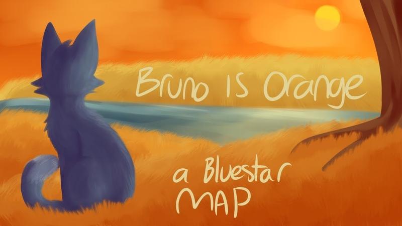 Bruno is orange a bluestar map