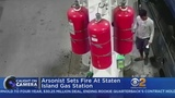 Police Man Sets Fire At Staten Island Gas Station