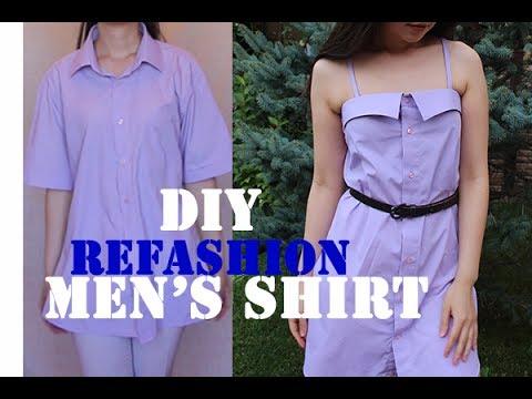 Cute dress from Men's shirt DIY Diary EP 11