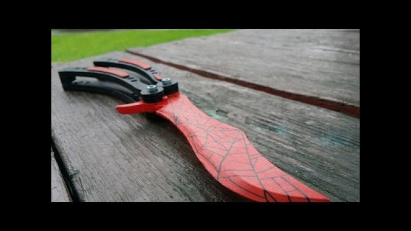 видео нож-бабочка