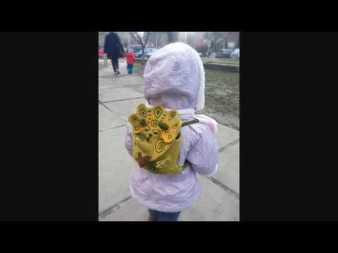 МК. Валяем детский рюкзачок. Рюкзак игрушка Динозаврик.