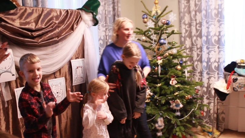 Семейный праздник в Рождество