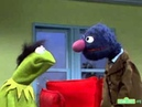 Classic Sesame Street Grover Gives Kermit a Hair Piece