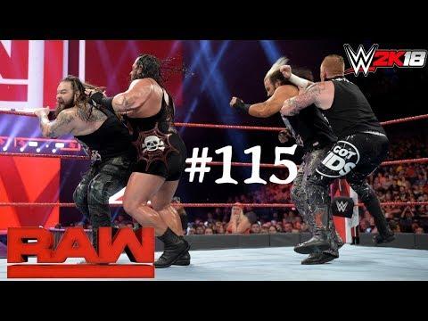 WWE 2K18 || Matt Hardy Bray Wyatt vs Heath Slater Rhyno || WWE Raw 2018 115