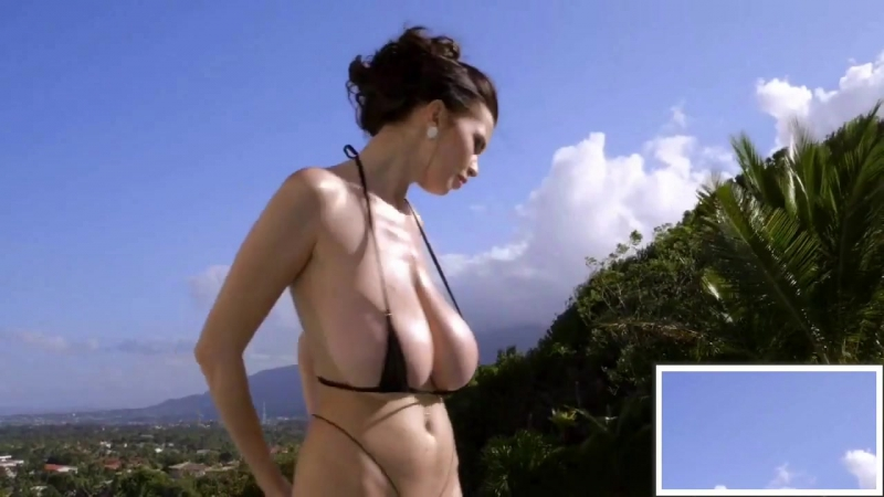 Really Huge Hanging Tits in a Tiny Bikini Part 2 Porn 18