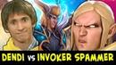 Dendi vs 65% winrate Invoker SPAMMER — mid Skywrath Mage