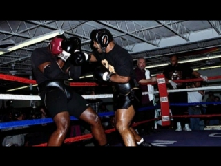 Mike Tyson Sparring McCall - Joe Frazier Watches Part 1