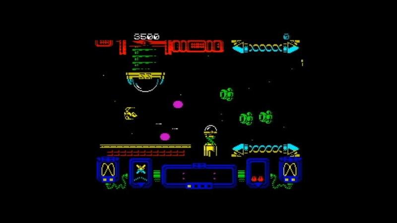 Zynaps (1987) 128k AY music version Walkthrough Review, ZX Spectrum