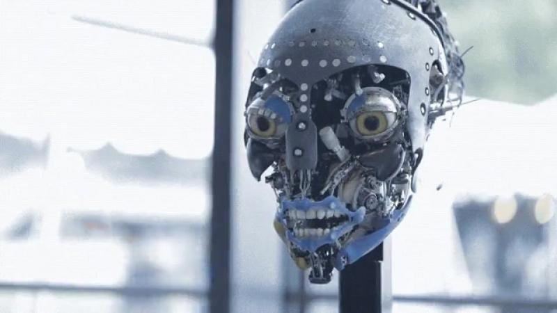 Робот со сложной мимикой лица.