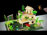 How to Make a Match House Not Fire at Home - DREAM HOUSE MANSION - ( Match stick house fire!)