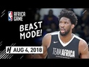 Joel Embiid Full Highlights vs Team World (2018 NBA Africa Game) - 24 Pts, 8 Reb
