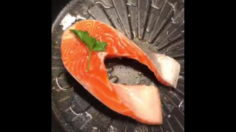 стейк семга лосось рыба гриль