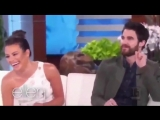 Promo for Darren Criss and Lea Michele on Ellen on April 9th, 2018
