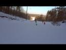 сопровождение юного лыжника