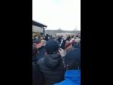 United fans singing Viva Ronaldo at Huddersfield. (vk.comi_love.mufc)