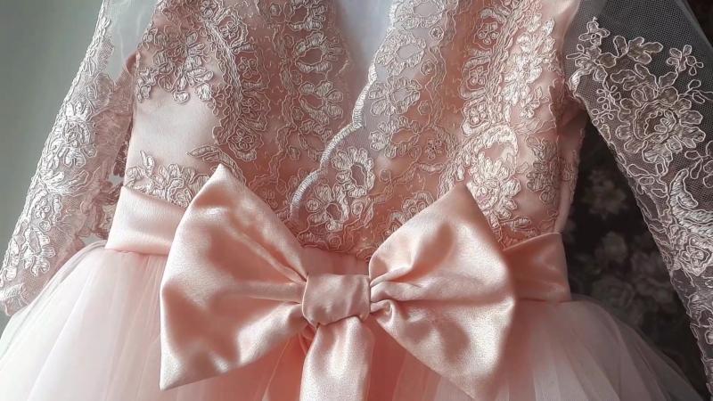 Платье для выпускного в садик. 👸 Пудра. 🎀