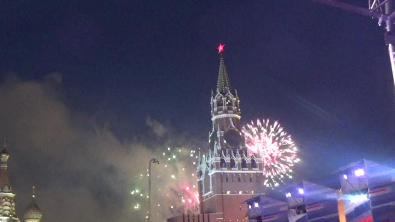 Салют(МыРоссия, Красная Площадь, 12 июня 2018,День России)