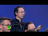 В.Путин отвечает на вопрос Синьхуа в предвыборном штабе