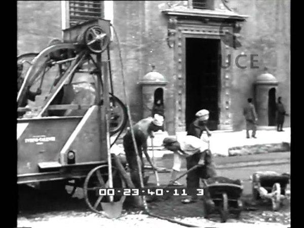 Roma I grandiosi lavori per la sistemazione di piazza Venezia procedono alacremente