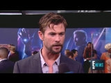 Chris Hemsworth Celebrates his 10th anniversary with Marvel - E! Live from the Red Carpet