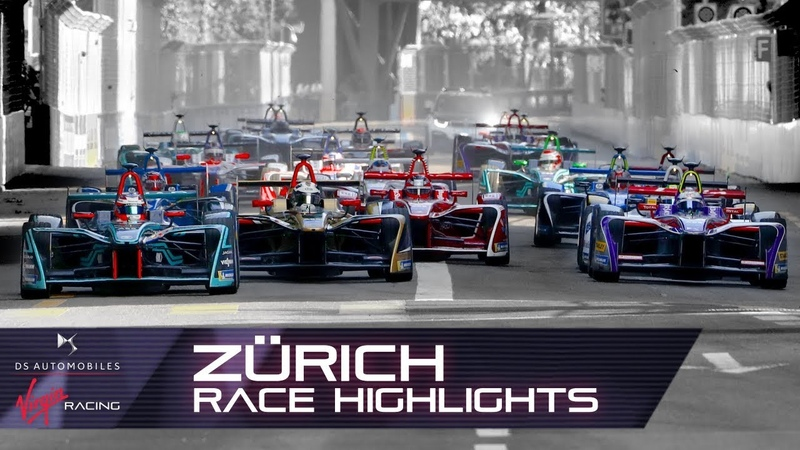 Formula E Zürich E-Prix Race Highlights! (DS Virgin Racing S4 R10)