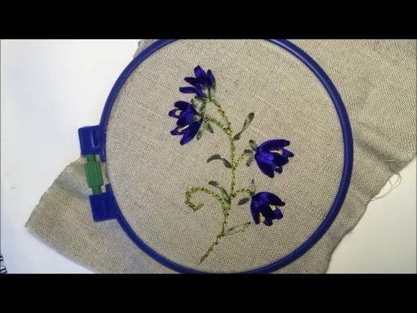 Колокольчик вышитый лентой /Bell embroidered with ribbon