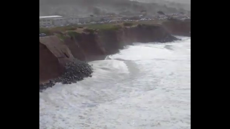 Эрозия на побережье Тихого океана, Калифорния