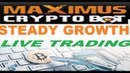 Maximus Cryptobot Works With Any Broker Platform (Live Trading Session)