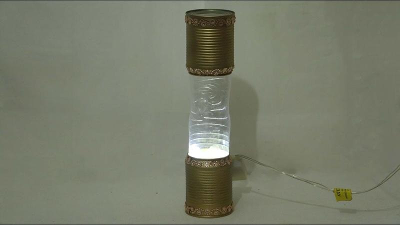 Reciclando Latas e Garrafa Pet / Luminária