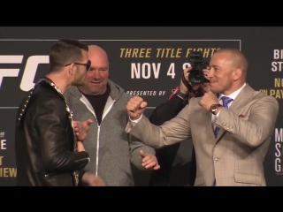 UFC 217- Bisping vs St-Pierre - Pre Fight Press Conference Face off