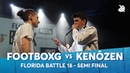 KENÔZEN vs FOOTBOXG | Florida Beatbox Battle 2018 | Semi Final