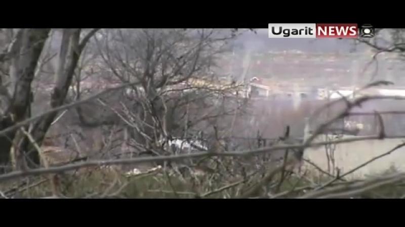 Забадани. Подрыв асадовской ЗСУ-4-23 Шилка (декабрь 2011)