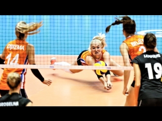 LONG RALLY - How many touches (Belgium vs Netherlands) WGP 2017. Womens Volleyball.