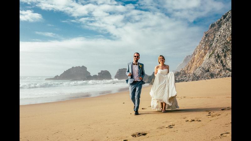 Свадьба в Португалии, на диком пляже под Лиссабоном Вероники и Игоря