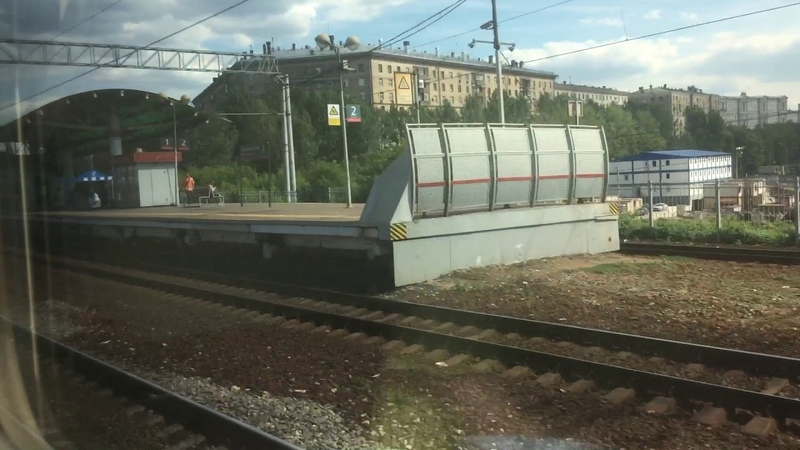 2018 | Вид из окна поезда №132 Москва - Орск. Отправление с казанского вокзала.