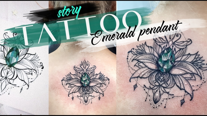 TATTOO story Emerald pendant