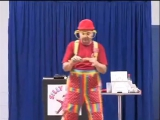 Silly Billy Clown performs childrens magic in new york - Silk Tube Trick