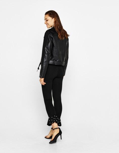 Трикотажные брюки с бусинами