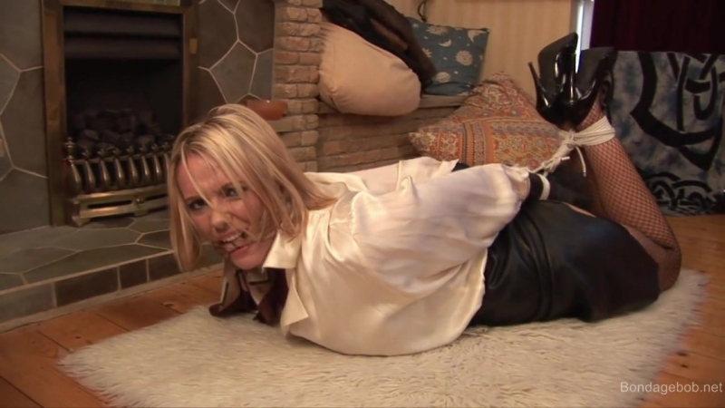Lucy hogtied . . .
