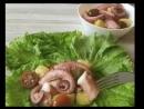 салат с щупальцами осьминога