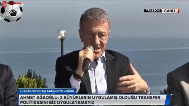 Trabzonspor Başkan adayı Ahmet Ağaoğlu Basın Toplantısı 6 NİSAN 2018