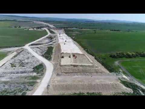 Сибавтобан. Строительство обхода Симферополя на участке Дубки-Левадки. Май 2018