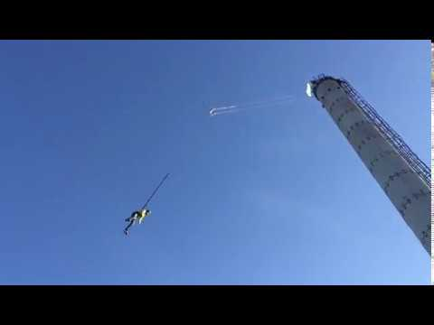 Rope jumping, Прыжки с веревкой, Труба 46 метров, Казань - Зеленодольск