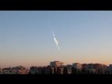 След от метеорита в небе над Воронежем