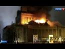 Пожар на ВДНХ: огонь опалил герб СССР
