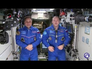 Олимпийские игры: привет с Международной космической станции #Роскосмос